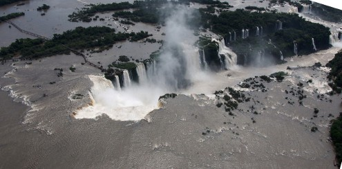 Iguazu Falls From The Air © Marjie Courtis