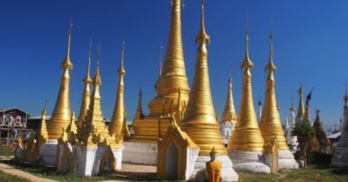 Pagodas near Inle Lake : © Marjie Courtis