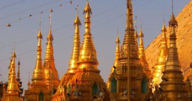 Schwedagon Pagoda –actually an extensive complex. Yangon © Marjie Courtis