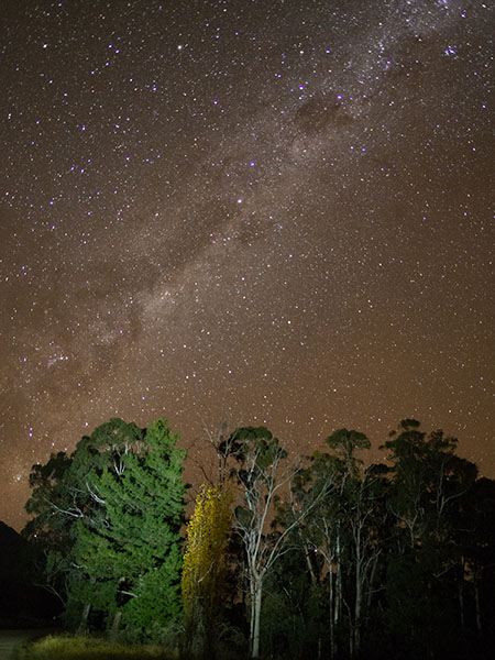 The Milky Way at Bright, Victoria. Photo: Marjie Courtis