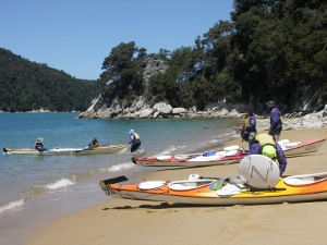 Landing Our Sea-Kayaks