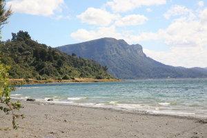 Panekiri Bluff from the Motor Camp